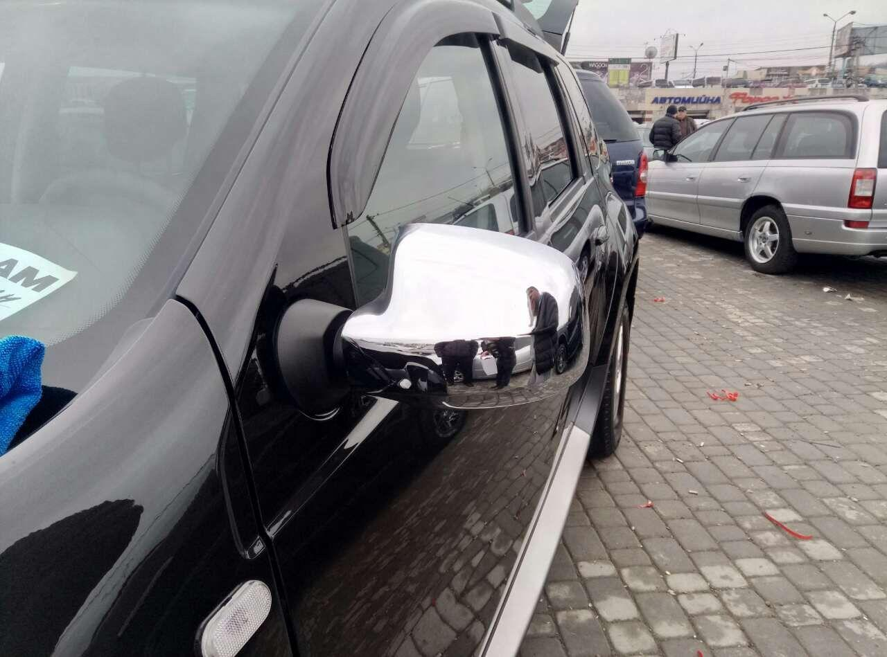Накладки на зеркала (2 шт) - Renault Sandero 2007-2013 гг.
