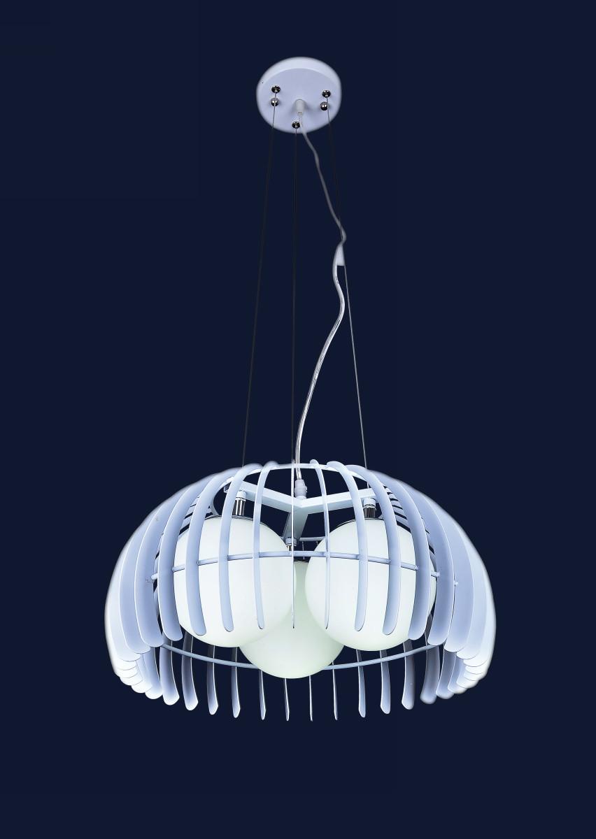 Подвесная люстра на три лампы 7076126-3 БЕЛЫЙ