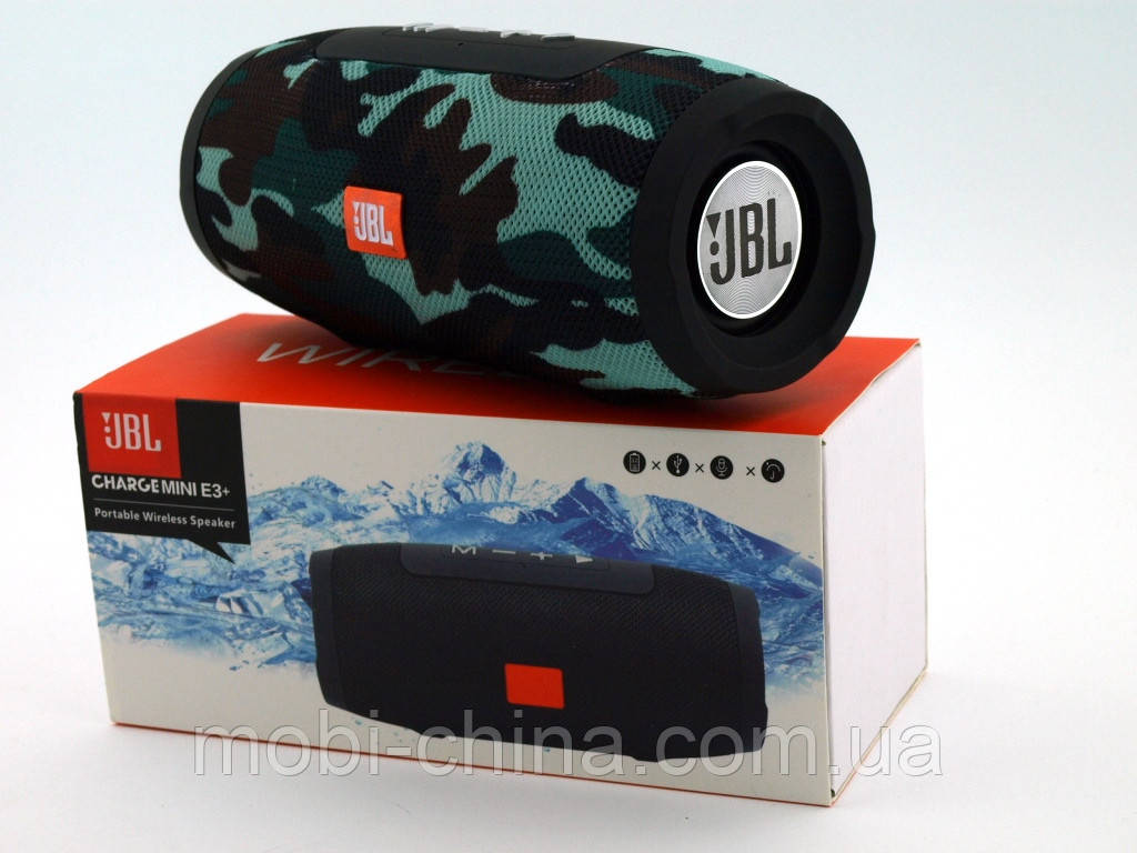 JBL Charge mini E3+ 6W копия, колонка с Bluetooth FM MP3, Squad камуфляжная