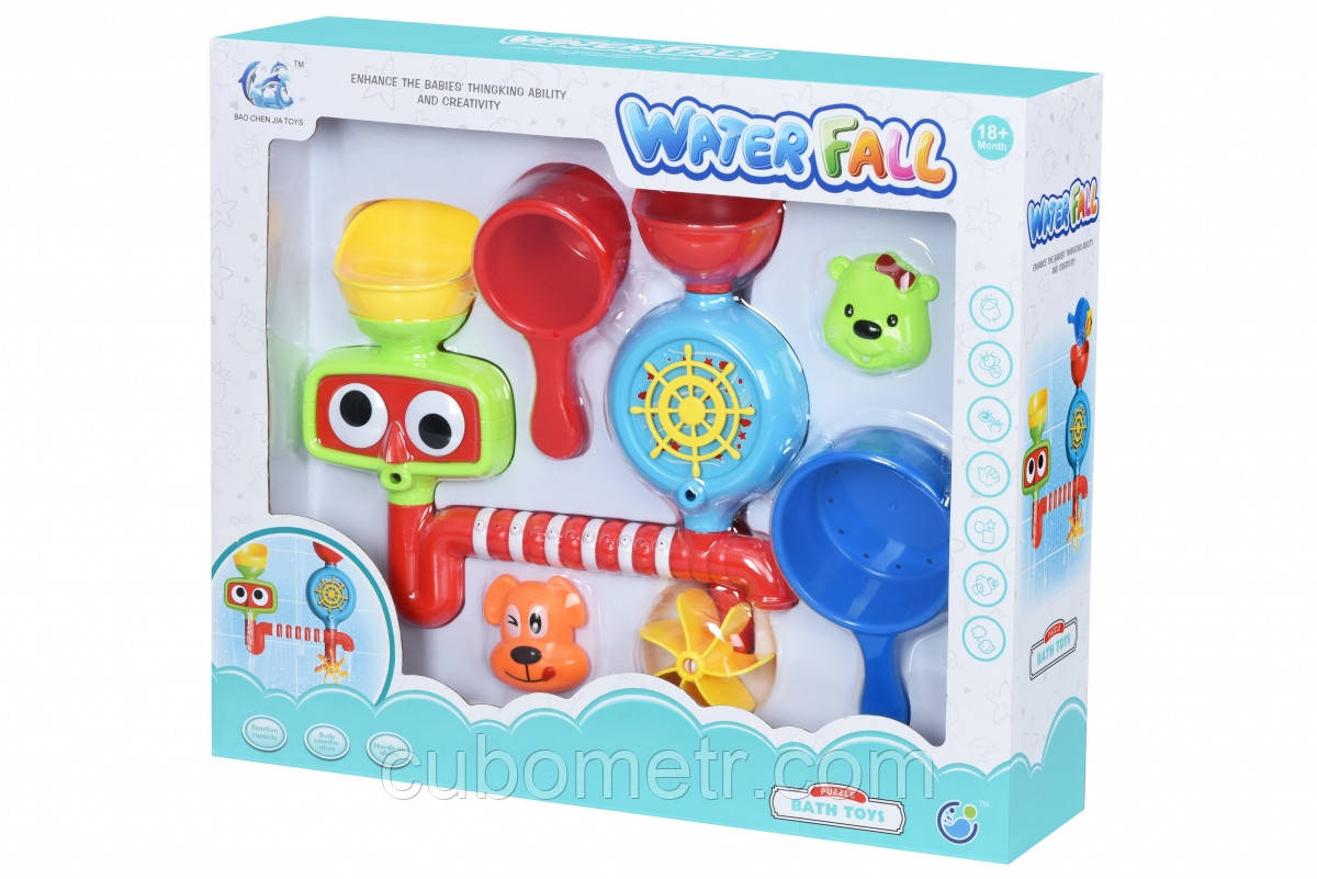 Игрушки для ванной Puzzle Water Fall с аксесуарами 9905Ut
