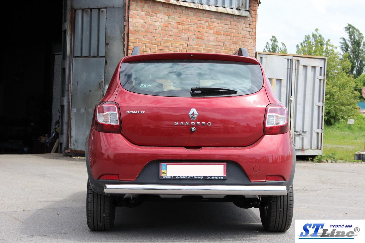 Задня дуга AK002 (нерж) - Renault Sandero 2013+ рр.