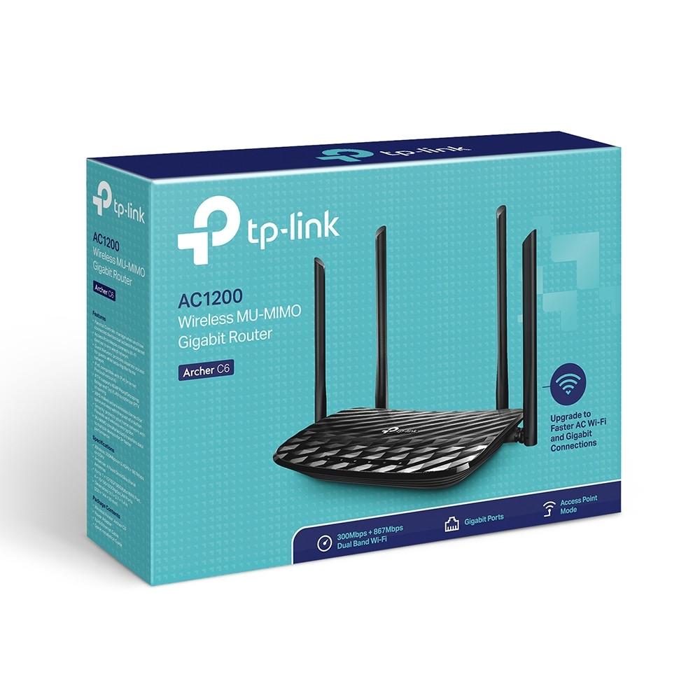 Маршрутизатор TP-Link ARCHER C6 AC1200, 4xGE LAN, 1xGE WAN