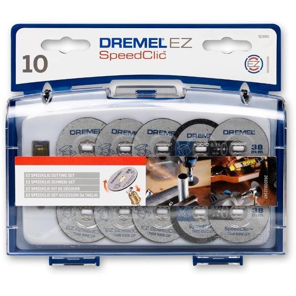 Набор кругов отрезных Dremel SC690 (10шт + держатель)