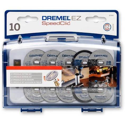 Набор кругов отрезных Dremel SC690 (10шт + держатель), фото 2