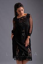 Платье замшевое с кожаной бахромой, фото 2