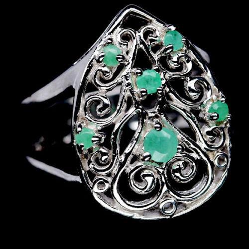 Изумруд, серебро 925, кольцо, 968КИ