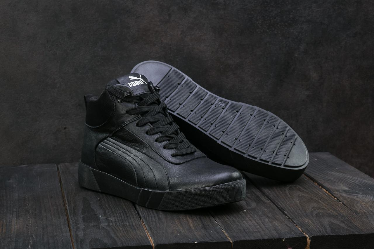 c5cb8fed Кеды Yuves 100 (Puma) (зима, мужские, кожа, черный): продажа, цена в ...