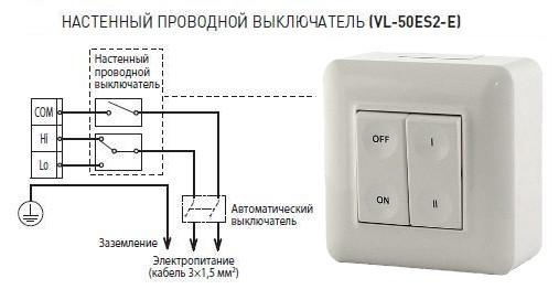 Управление для рекуператораLossnay VL-50ES2-E