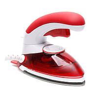Утюг дорожный Plymex HT-558B 1000W Белый с красным 5618, КОД: 106597