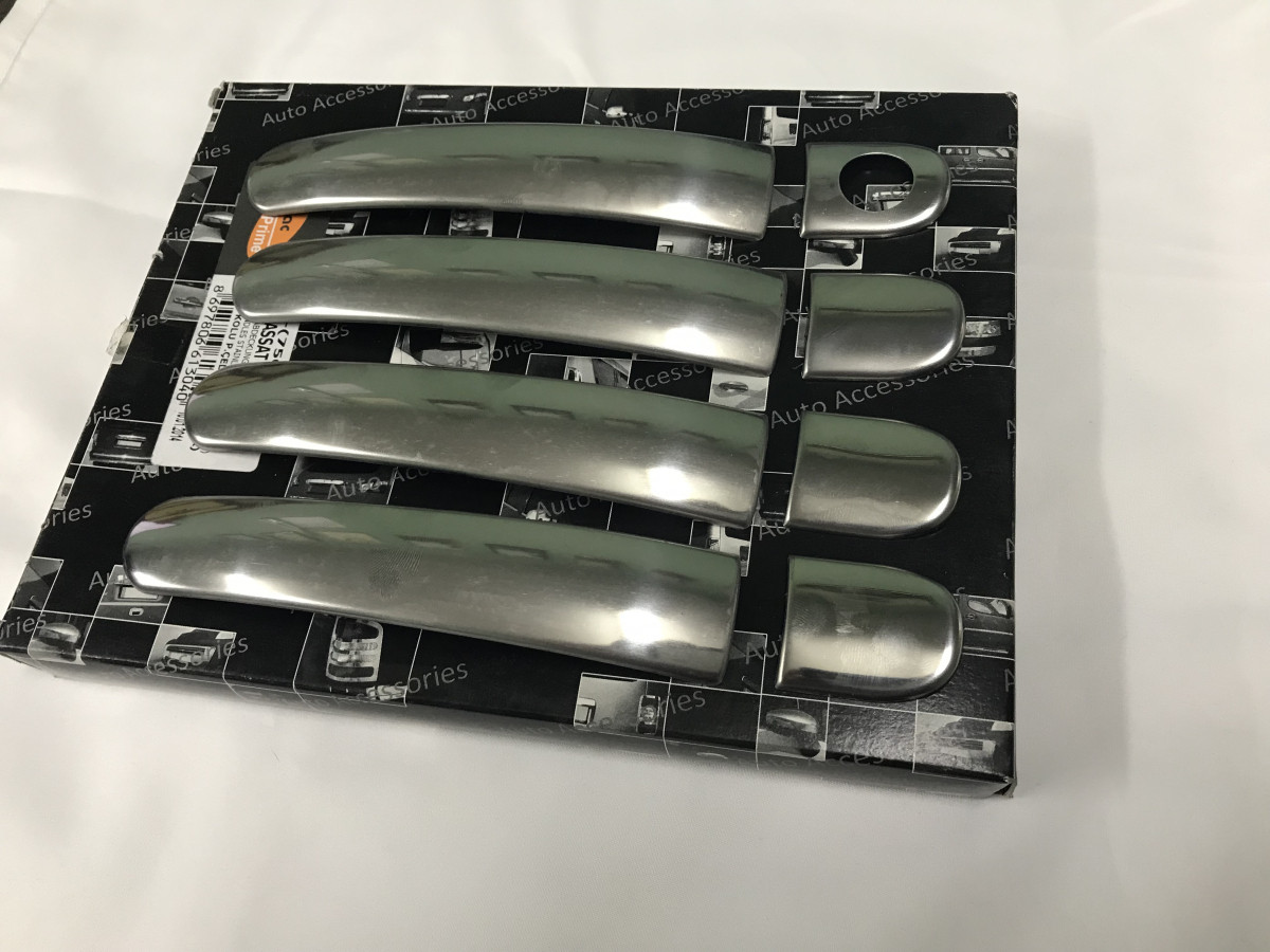 Накладки на ручки плоскі (4 шт) - Skoda Octavia A5 2006-2010 рр.