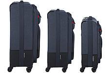 """Набор тканевых чемоданов, Wenger Deputy Set (20""""/24""""/29""""), 4 колеса, тёмно-синий, фото 3"""