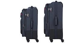 """Набор тканевых чемоданов, Wenger Deputy Set (20""""/24""""/29""""), 4 колеса, тёмно-синий, фото 2"""