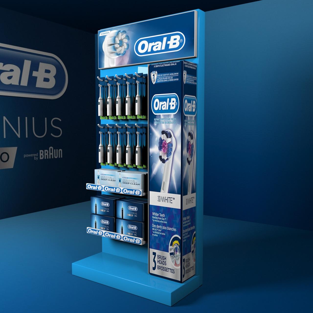 Торговое оборудование стойки Oral-b для зубных щеток
