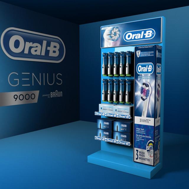 Торговое оборудование стойки Oral-b