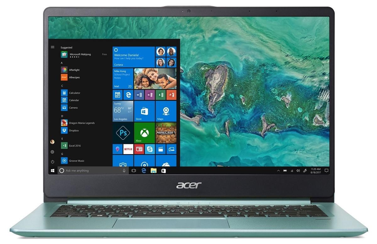 Ноутбук Acer Swift 1 SF114-32-C7Z6 14FHD AG/Intel Cel N4000/4/128F/int/Lin/Green