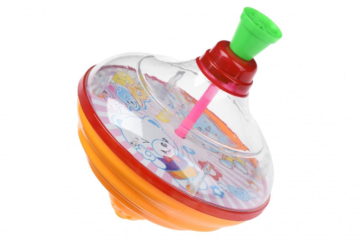 Юла Same Toy Peg-top со светом и звуком HAPPY розовая 8520Ut-2