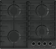 Варочная поверхность Gorenje  G641BMB/газовая/ электроподжиг/газ.контроль/чугунные решетки/черная