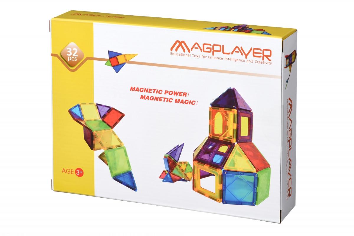 Конструктор Magplayer магнитные плитки 32 эл. MPL-32
