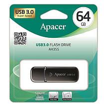 Накопитель Apacer 64GB USB 3.0 AH355 Black, фото 3