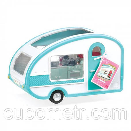 Транспорт для кукол LORI Кемпер на колесах бирюзовый LO37001, фото 2