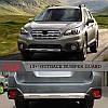Передня і задня накладки V1 (2 шт) - Subaru Outback 2015+ рр., фото 4