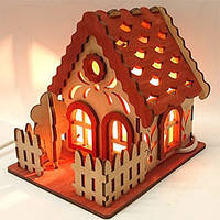 Соляной светильник домик 7