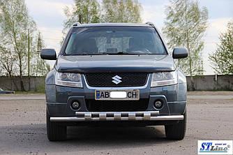 Передний ус ST015 (нерж) - Suzuki Grand Vitara 2005-2014 гг.