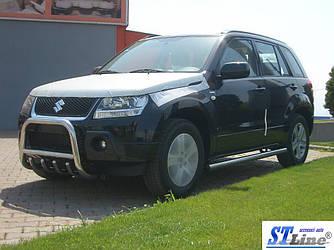 Кенгурятник QT006 (нерж.) - Suzuki Grand Vitara 2005-2014 гг.