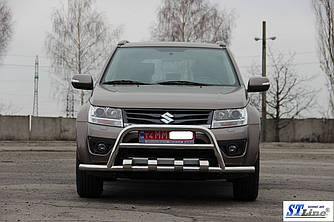 Кенгурятник ST-WT-15 (нерж.) - Suzuki Grand Vitara 2005-2014 гг.