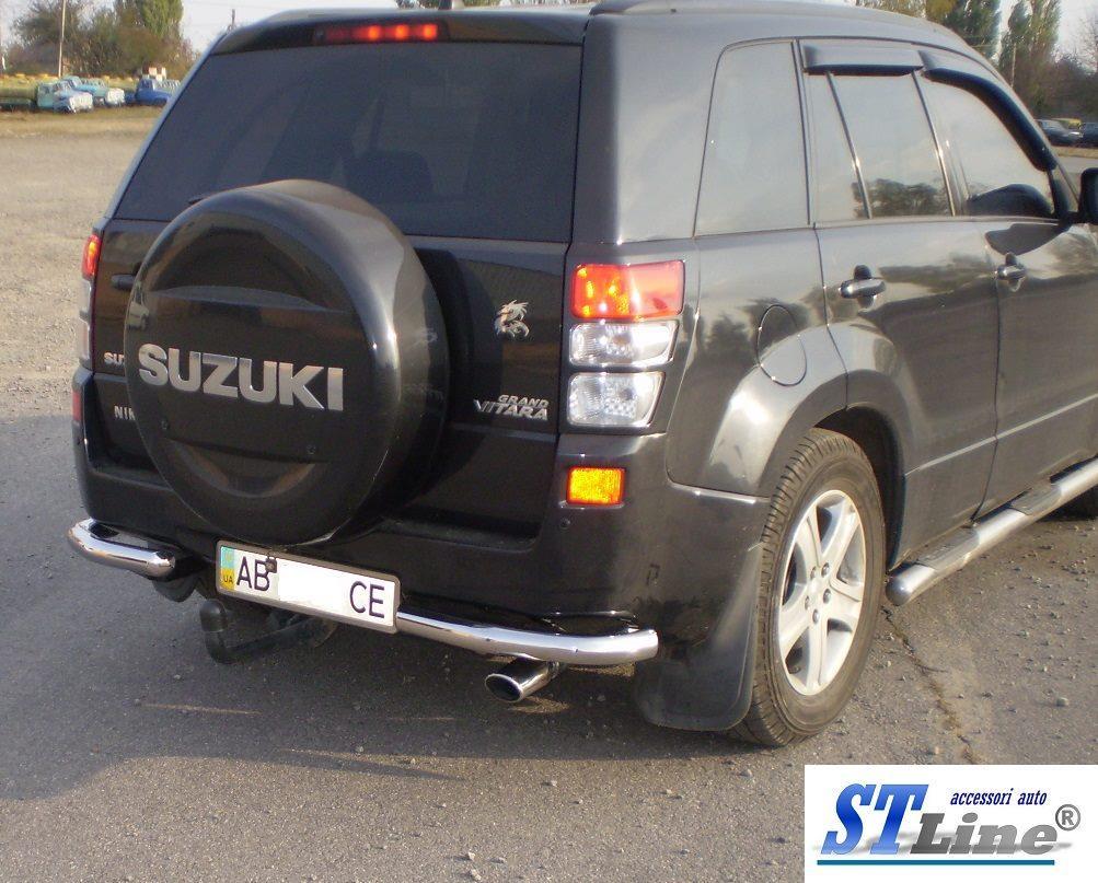 Задняя защита AK003 (нерж) - Suzuki Grand Vitara 2005-2014 гг.