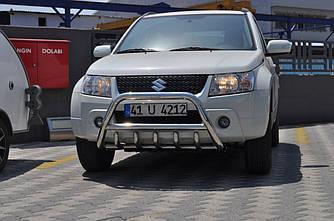 Кенгурятник WT003 (нерж.) - Suzuki Grand Vitara 2005-2014 гг.