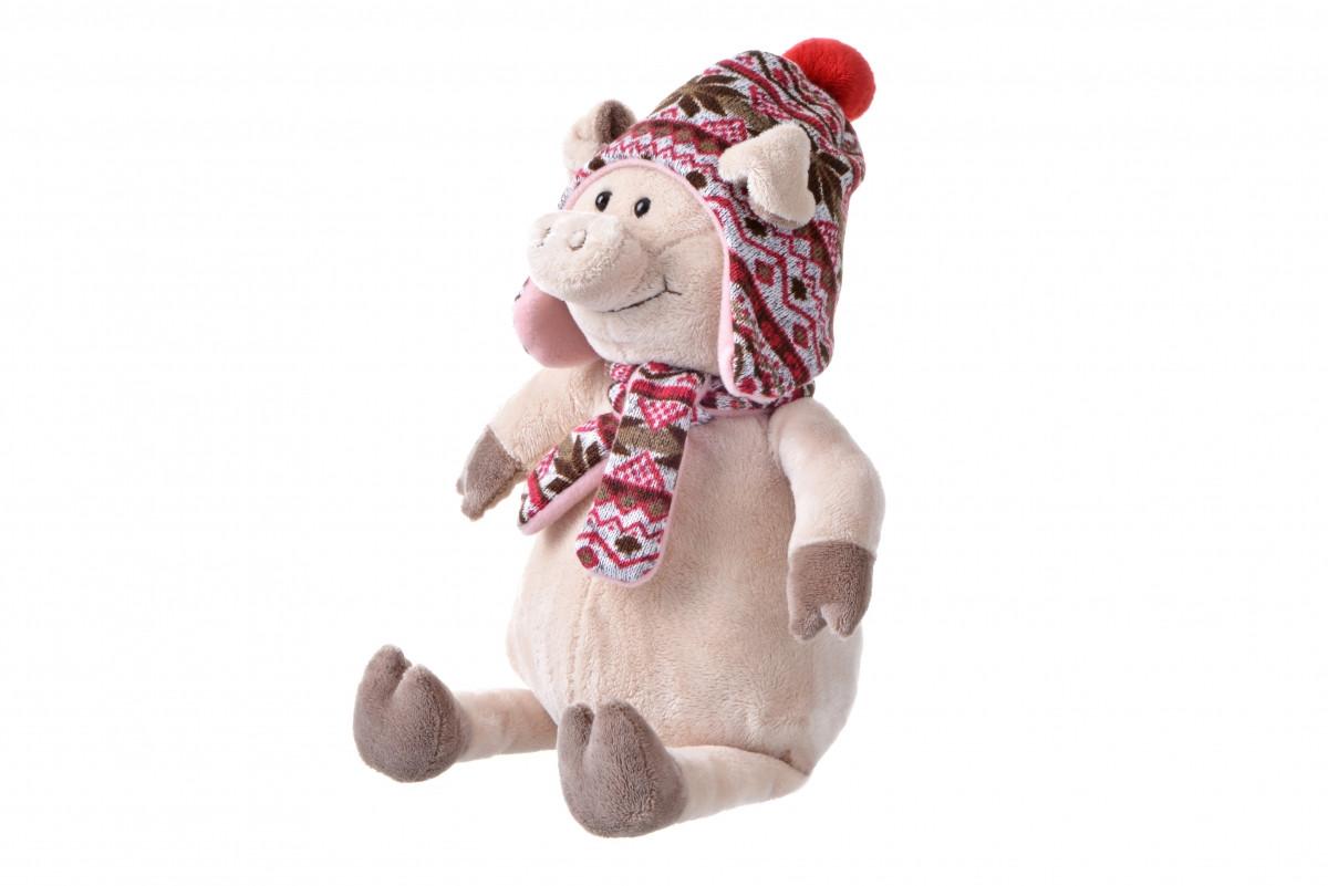 Мягкая игрушка Same Toy Свинка в шапке 38см THT720