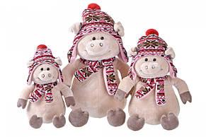 Мягкая игрушка Same Toy Свинка в шапке 38см THT720, фото 3