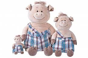 Мягкая игрушка Same Toy Свинка  в комбинезоне 18см THT709, фото 3