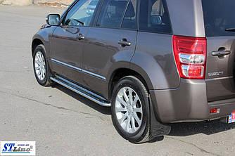 Боковые площадки Premium (2 шт, нерж) - Suzuki Grand Vitara 2005-2014 гг.