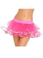 Нежно-розовая пышная юбка на резинке