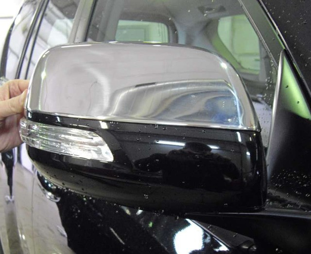 Накладки на дзеркала (2 шт., нерж.) - Toyota LC 150 Prado