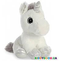 Мягкая игрушка Единорог Silver с сияющими глазами (20 см) Aurora 150710K