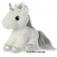 Мягкая игрушка Единорог Silver с сияющими глазами (30 см) Aurora 161257D