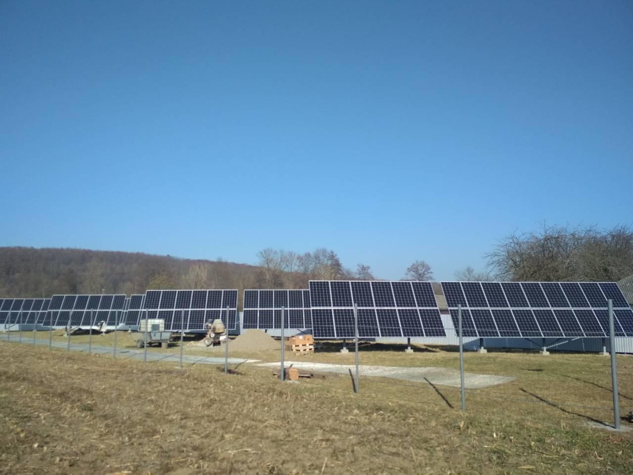 Сетевая солнечная электростанция 30 кВт (Снятынский р-н, Ивано-Франковская обл)