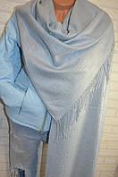 Палантин шарф в стиле Gucci (Гучи) серый