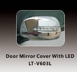 Накладки на зеркала c LED (2 шт, пласт) - Toyota Rav 4 2006-2013 гг.