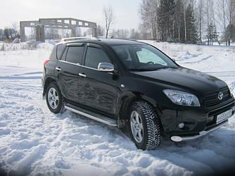 Накладки на зеркала (2 шт) - Toyota Rav 4 2006-2013 гг.