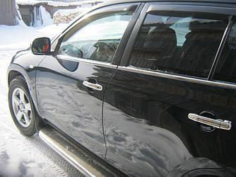 Наружняя окантовка стекол (4 шт, нерж) - Toyota Rav 4 2006-2013 гг.