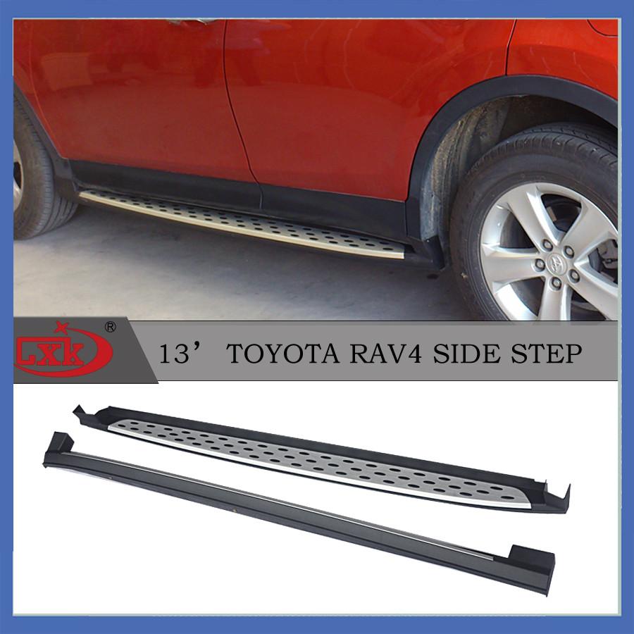 Бічні майданчики OEM V2 (2013-2016, 2 шт, алюміній) - Toyota Rav 4 2013-2018 рр ..