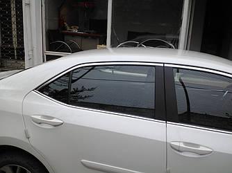 Верхняя окантовка (4 шт, нерж) - Toyota Corolla 2013+ гг.