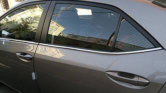 Нижняя окантовка (4 шт, нерж) - Toyota Corolla 2013+ гг.