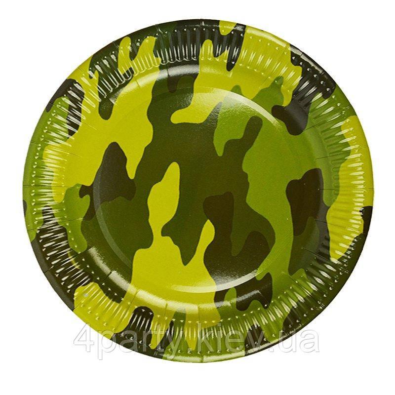 Тарілки святкові Мілітарі 23 см 6 шт 261218-002