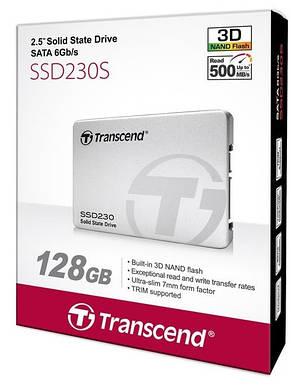 """Твердотельный накопитель SSD 2.5"""" Transcend 230 128GB SATA TLC, фото 2"""