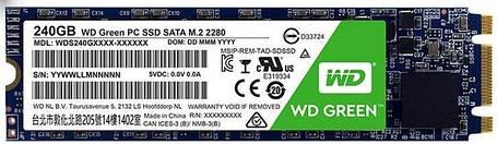 Твердотельный накопитель SSD M.2 WD Green 240GB 2280 SATA TLC, фото 2
